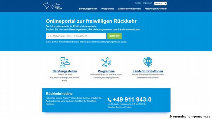 Screenshot returningfromgermany.de