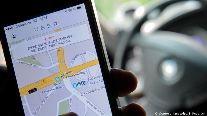 Uber app as seen on a smartphone
