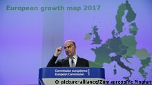 EU-Wirtschaftskommissar Pierre Moscovici Wachstumsprognosen für 2017