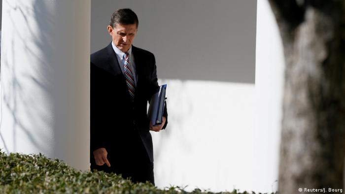 Michael Flynn at the White House (Reuters/J. Bourg)