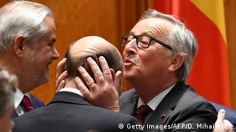 Rumänien Bukarest E_ Kommissionspräsident Jean-Claude Juncker (Getty Images/AFP/D. Mihailescu)
