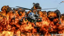 USA Flugschau Kampfhubschrauber AH-64D Apache in South Carolina