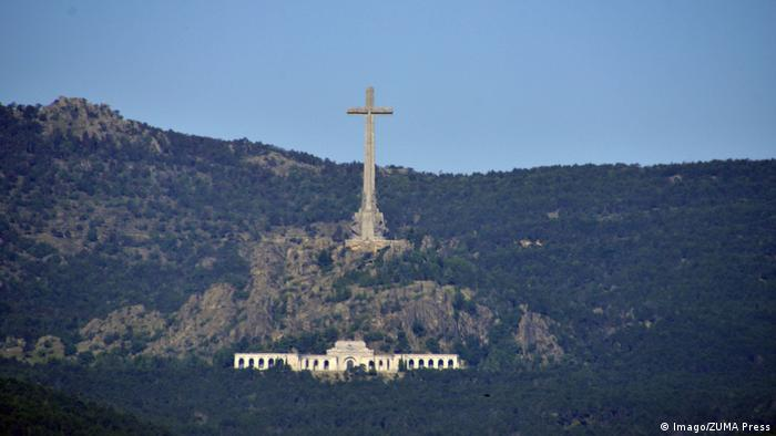 The Valley of the Fallen towers over the hills outside the Spanish capital, Madrid