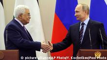 Vladimir Putin und Mahmoud Abbas (picture alliance/AP Photo/Y. Kochetkov/Pool Photo)