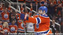 Leon Draisaitl im Trikot der Edmonton Oilers (Picture alliance/empics/The Canadian Press/J. Franson)