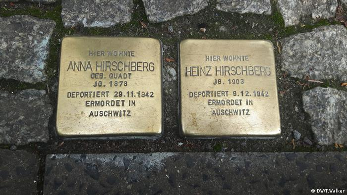 Stolpersteine Stumbling stones memorials to victims of the Holocaust (DW/T.Walker)