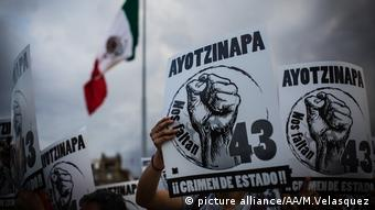 Mexiko verschwundene Studenten Thema verschwundene Menschen Kriminalität (picture alliance/AA/M.Velasquez)