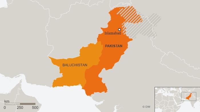 Karte Pakistan Baluchistan DEU
