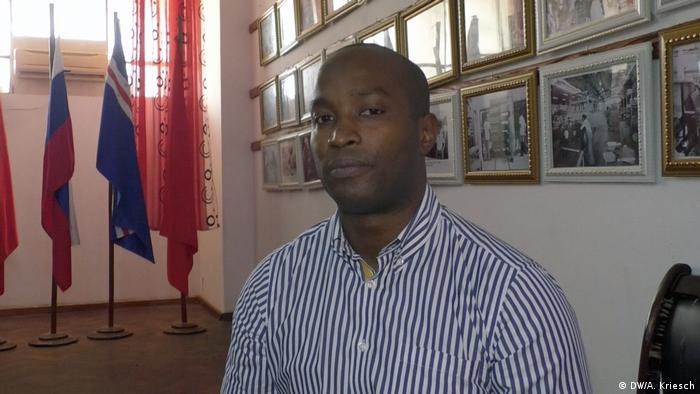 Lagos Joao Bernando Vieira Sprecher der Partei PAIGC