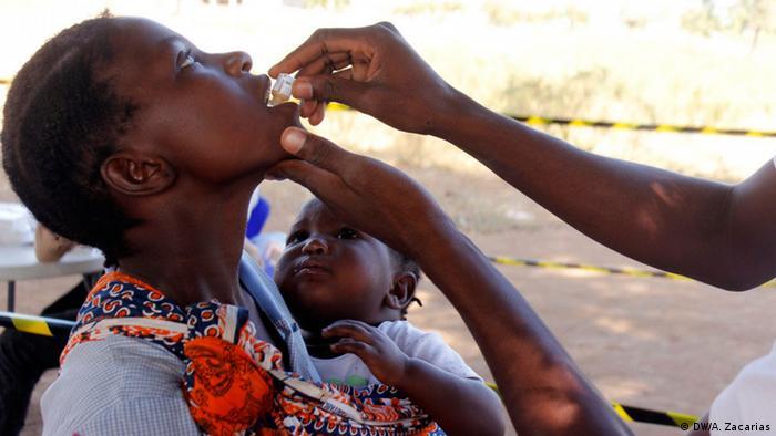 Vacinação contra a cólera na cidade de Tete, centro de Moçambique
