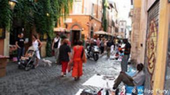 Stadtteil Trastevere heute (Foto: pixelio.de)
