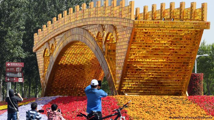 Bau einer neuen Seidenstraße in China (picture alliance/dpa/Kyodo)