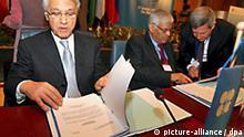 OPEC Präsident Chakib Khelil Gipfel
