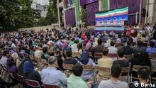 Das Bild zeigt die Fernsehdebatte der Präsidentschaftskandidaten im Iran heute. Quelle: Borna Copyright: frei