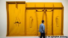 A work of art resembling yellow shelves by Franz Erhard Walther (Getty Images/Awakening)