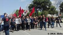 Protest der Demokratischen Partei in Tirana Rashela Shehu, DW-Korrespondentin in Tirana