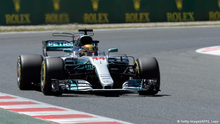 Hamilton im Qualifying in Barcelona. Foto: Getty Images