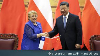 China Michelle Bachelet & Xi Jinping in Peking (picture-alliance/AP Images/J. Lee)