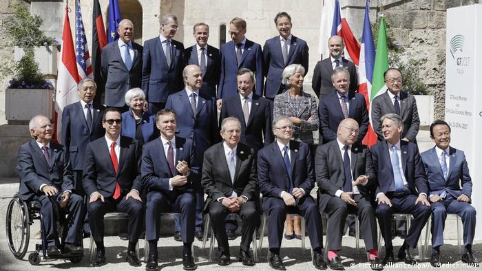 Treffen der G7-Finanzminister und -Notenbankchefs (Picture alliance/dpa/A. Medichini/AP)