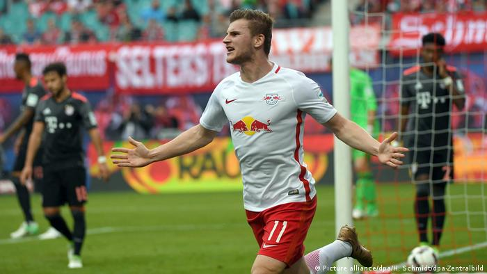 Timo Werner scored against Bayern on Matchday 33 last season