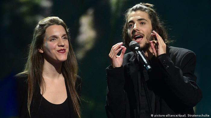 Ukraine Eurovision Song Contest in Kiew - Salvador Sobral (picture-alliance/dpa/J. Stratenschulte)
