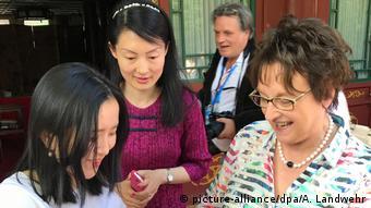 China Wirtschaftsministerin Brigitte Zypries in Peking