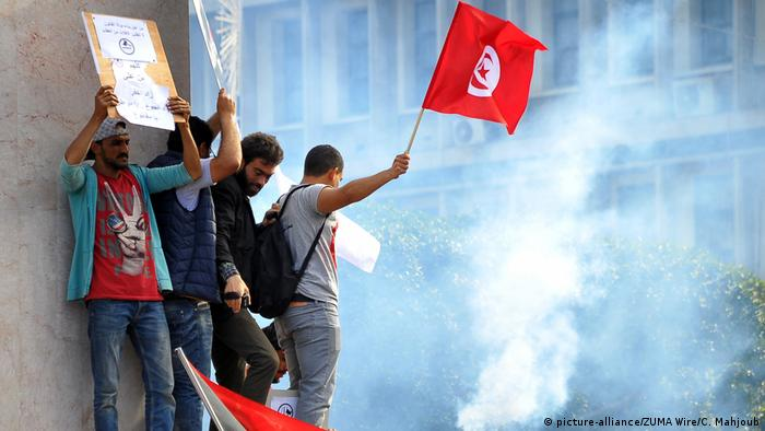 Tunesien Proteste in Tunis (picture-alliance/ZUMA Wire/C. Mahjoub)