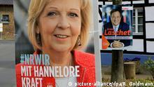 Plakate zur Wahl NRW