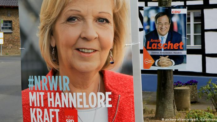 election campaign poster showing Hannelore Kraft (picture-alliance/dpa/R. Goldmann)