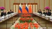 China Peking Treffen mit Russland