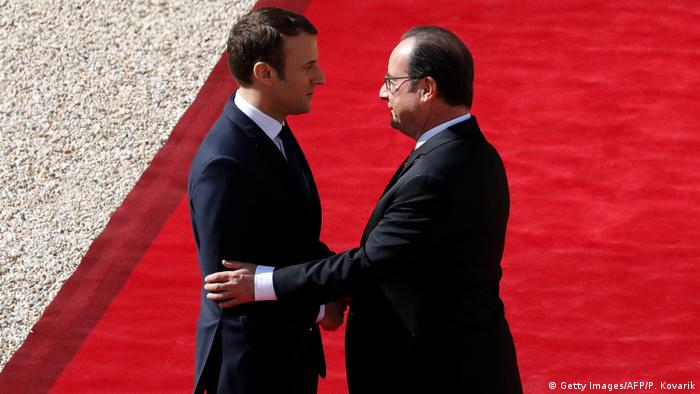 Emmanuel Macron und Francois Hollande