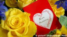 Muttertag Blumen und Karte