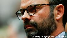 Mayor of Le Havre Edouard Philippe prepares to present the candidates of La Republique en marche, ahead of the June parliamentary elections (legislative) on May 11, 2017, in Le Havre, northwestern France. / AFP PHOTO / CHARLY TRIBALLEAU (Photo credit should read CHARLY TRIBALLEAU/AFP/Getty Images)