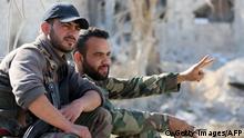 Syrien Regierungstruppen in Qaboun
