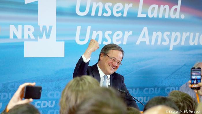 Düsseldorf NRW CDU-Chef Armin Laschet Reaktion nach Landtagswahl (Reuters/K. Pfaffenbach)