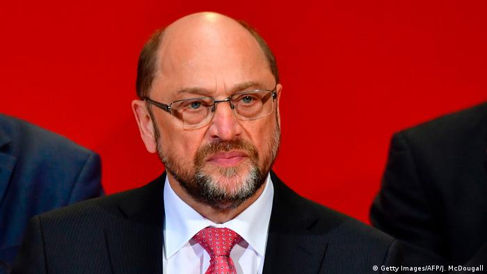 SPD leader Martin Schulz looking pensive