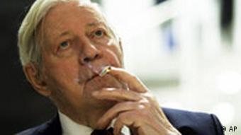 ehemalige Bundeskanzler Helmut Schmidt (Foto: AP)