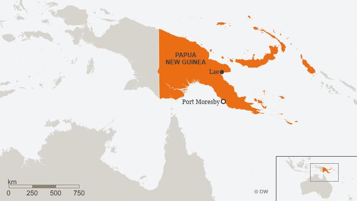 Karte Papua Neuguinea ENG