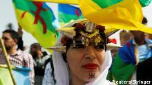 Marokko Demo der Amazigh in Rabat