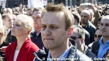 Russland Nawalny bem Protest gegen Wohnbaupläne in Moskau