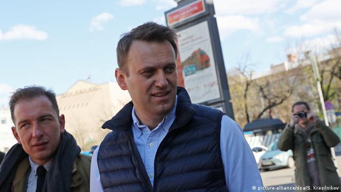 Russland Nawalny bem Protest gegen Wohnbaupläne in Moskau (picture-alliance/dpa/S. Krasilnikov)