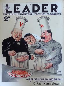 Thd cover design for British magazine Leader, illustrated by Paul Humpoletz Sr. (Paul Humpoletz Jr.)