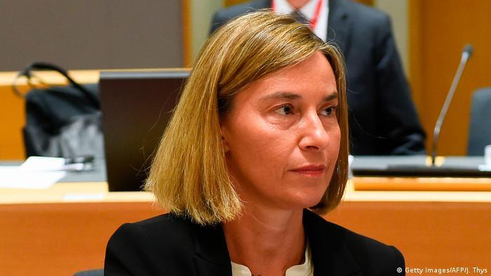 Belgien EU Außenministertreffen Federica Mogherini (Getty Images/AFP/J. Thys)