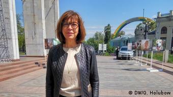 Ukraine Abgeordnete im EU-Parlament Rebecca Harms in Kiew