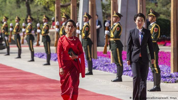 China Seidenstraßen-Gipfel Aung San Suu Kyi (picture-alliance/Zumapress/C. Xinyu)