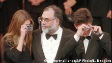 Frankreich Cannes 70 Jahre Francis Ford Coppola mit Sophia und Roman