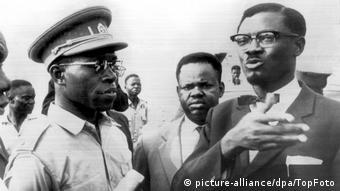 Lumumba mit Joseph Mobutu
