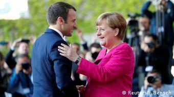 Emannuel Macron i Angela Merkel u Berlinu