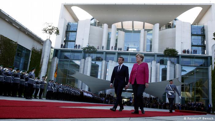Emmanuel Macron in Berlin Antrittsbesuch
