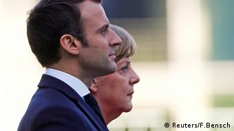 Emmanuel Macron und Angela Merkel Berlin (Reuters/F.Bensch)
